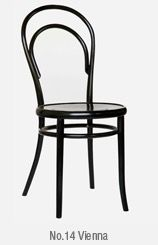 Interior chair.   Thonet.  No 14.  Vienna.   Black.
