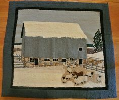 primitive hooked rug by Rosemary Wilson, Rosemary's Rugs.  Simply beautiful!!!!