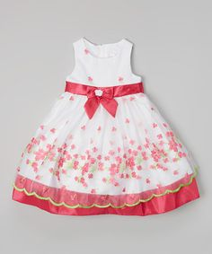 Fuchsia & Green Flower Dress - Infant & Girls