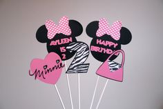 Minnie Mouse Inspired Centerpiece by LittleBnMe on Etsy
