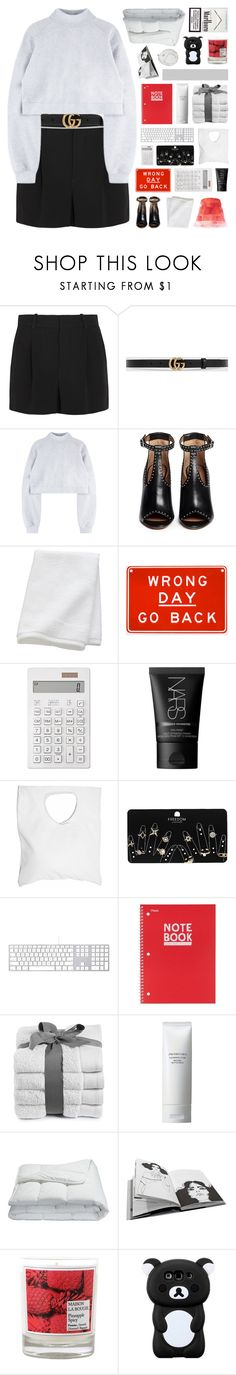 """""""new beginnings"""" by randomn3ss ❤ liked on Polyvore featuring Chloé, Gucci, Givenchy, CB2, Muji, NARS Cosmetics, Jennifer Haley, Topshop, Mead and Shiseido"""