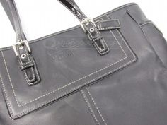 shopgoodwill.com: Coach Black Leather Tote Bag 10413 AUTHENTICATED