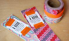 Washi Tape Bookmarks - Make some easy patterned bookmarks using paper tape. Creative Bookmarks, Diy Bookmarks, How To Make Bookmarks, Bookmark Ideas, Washi Tape Diy, Masking Tape, Washi Tapes, Duct Tape, Tape Crafts