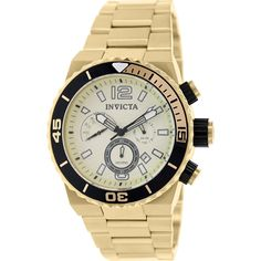 Invicta Men's Pro Diver 80243 Gold Stainless-Steel Swiss Chronograph Watch