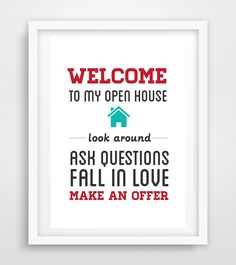 """Realtor Real Estate open house sign artwork digital print 11x14"""" Poster printable instant download YOU PRINT by RealEstatedesigns on Etsy https://www.etsy.com/listing/252847842/realtor-real-estate-open-house-sign"""