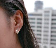yoga earrings lotus earrings lotus flower earrings by karlasdesign, $12.00