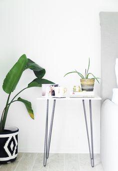 DIY marble side table