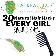 20 Natural Hair Hacks Every Woman Should Know - Natural Hair Rules!!!