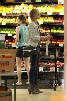 Rosie Huntington-Whiteley at Bristol Farms shopping for grocery...