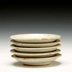 Piece: Set of 5 Small Plates Warren Mackenzie, Tea Bowls, Small Plates, Serving Dishes, Clay, Pottery, American, Gallery, Tableware