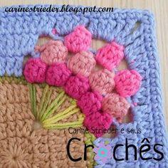 Carine Strieder e seus Crochês: Mega square Buquê de Tulipas