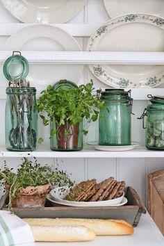 VIBEKE DESIGN: Rustikk , grønt & fransk
