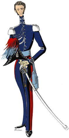 Ufficiale dei Carabinieri in gran montura 1838