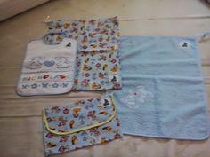 Felice di essere una stramba mamma: set per asilo usando un lenzuolino da lettino