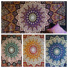 Indian Psychedelic Tapestry Wall Hanging Elephant Star Mandala Throw Hippie Boho #Bazzaree #AsianOriental