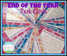 End of the Year Memories Task Cards!  Each students gets a card and completes the task to show a wonderful memory from the year.$