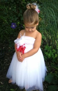 Tutu Dress and Matching Bow  for your  Baby or Toddler