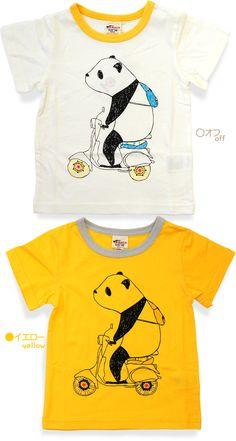 8234da1a7e49d A-MACH(エーマッハ)パンダ柄半袖Tシャツ (こどもふく) 80-130