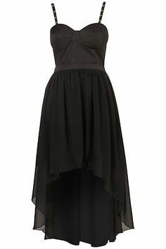 TOPSHOP Sexy Studded Dip Hem Party Dress by Rare