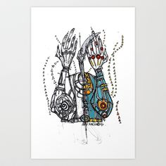 Sketch Noise Art Print by Maccu Maccu - $14.56