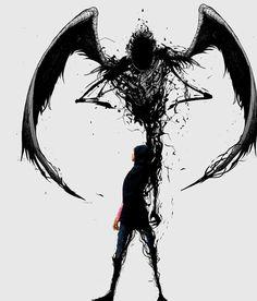 Demi Human, Ajin Anime, Darth Vader, Halloween, Fictional Characters, Tatuajes, Dibujo, Fantasy Characters, Spooky Halloween