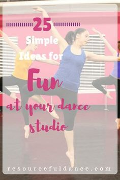 Finding ways to make room for fun at your dance studio is SO important. Fun improves customer loyalty and encourages referrals to your dance studio.
