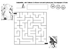 Maternelle: Calinours va à l'école : labyrinthe Grande Section, Homeschool, Teddy Bear, Activities, Yahoo Search, Maths, Ps, Albums, Image Search