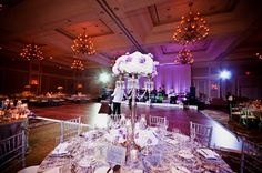 Wedding lighting at the Waldorf Astoria in Orlando, Florida. Lighting by keventlighting.com #waldorfastoriaorlando #waldorforlando #waldorfwedding #orlandowedding #ballroomreception #weddingreception #weddinglighting