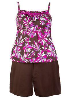 681e7d5b30793 Two-Piece Swimsuit with Board Shorts Junior Plus Size Swimwear