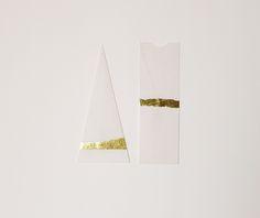 FURZE CHAN A selection of handmade paper envelopes 'The Golden Set' by Hong Kong artist and designer Furze Chan
