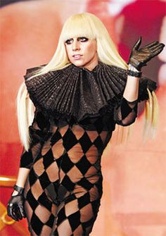 Pop star Lady Gaga poses during a press photo call in Seoul on Wednesday. /Yonhap