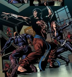 Shang-Chi, Steve Rogers, Black Widow by Mike Deodato Jr. Colors by Rain.