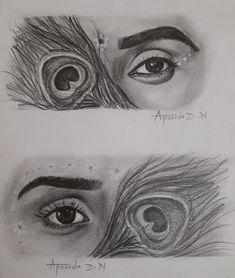 Radha Krishna Sketch, Krishna Wife, Krishna Names, Krishna Drawing, Krishna Painting, Krishna Art, Radhe Krishna, Pencil Sketches Easy, Abstract Pencil Drawings
