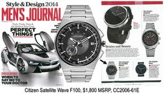 New this Fall! Citizen Satellite Wave F100, perfect for the world traveler!