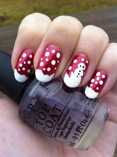 Let the spirit of Christmas take over and try some lovely winter-inspired nail designs
