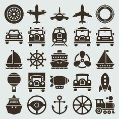Fine Transport Icon Vector Material