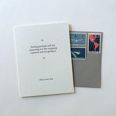 #gratitude ... never too late to send a thank you. // www.ofnotestationers.com