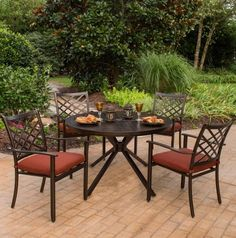 8611b3874cc1 Haywood 5 Piece Dining Set. • Available online only • Rust proof Alumicast  frame •