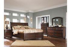 Rustic Brown Porter Queen Sleigh Bed View 3