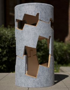 """Industrial Designer Flyn O'Brein's """"Stepped Stool"""" made from cork and industrial felt!"""