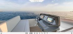 Ferretti Yachts 850 flybridge helm station details. #FerrettiGroup #Luxury #Yacht