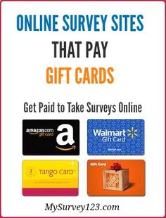 I have been taking online paid surveys for extra money since 2005, and this is a list of best legitimate online survey sites I found over the years, that reward you amazon or other gift cards(such as itunes, walmart, target) for taking market research online surveys. mysurvey123.com