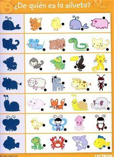 animals shadow worksheet