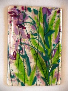 """Flower Garden"" fused glass from Sara Neal Design"