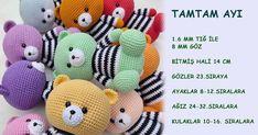 Legos, Amigurumi Tutorial, Crochet Animals, Origami, Free Pattern, Dinosaur Stuffed Animal, Toys, Baby, Handmade
