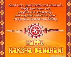 Happy Raksha Bandhan (Rakhi) Wishes & Greeting Message Card & Ecard Image wish your brother sister with cool unique special card pics send best wishes sms Raksha Bandhan Cards, Raksha Bandhan Images, Raksha Bandhan Gifts, Happy Raksha Bandhan Wishes, Raksha Bandhan Greetings, Birthday Wishes In Heaven, Happy Birthday, Rakhi Quotes, Rakhi Wishes