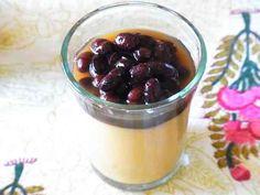 ビーガン*豆乳ブランマンジェ・黒豆ソース 豆乳で作る濃厚&リッチなビーガンブラマンジェです。