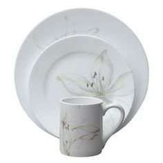 Impressions™ White Flower 16-Pc Dinnerware Set  $39.99 at Corelle website
