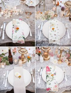 Floral patterned napkins - Love this idea. Shabby Chic and Vintage Tables-cape! Camp Wedding, Wedding Shoes, Movie Wedding, Wedding Fayre, Calla, Printed Napkins, Wedding Table Settings, Place Settings, Wedding Napkins