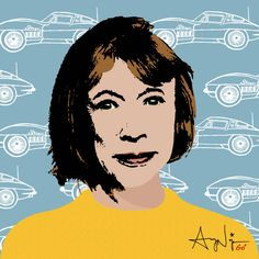 Joan Didion New Documentary - Illustration by Avery Nejam - Harper's BAZAAR Magazine